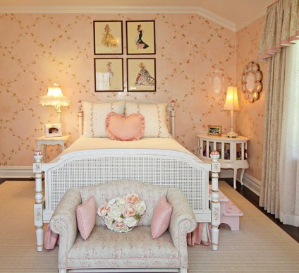 Girls-Bedroom-Ideas-with-Floral-Wallpaper